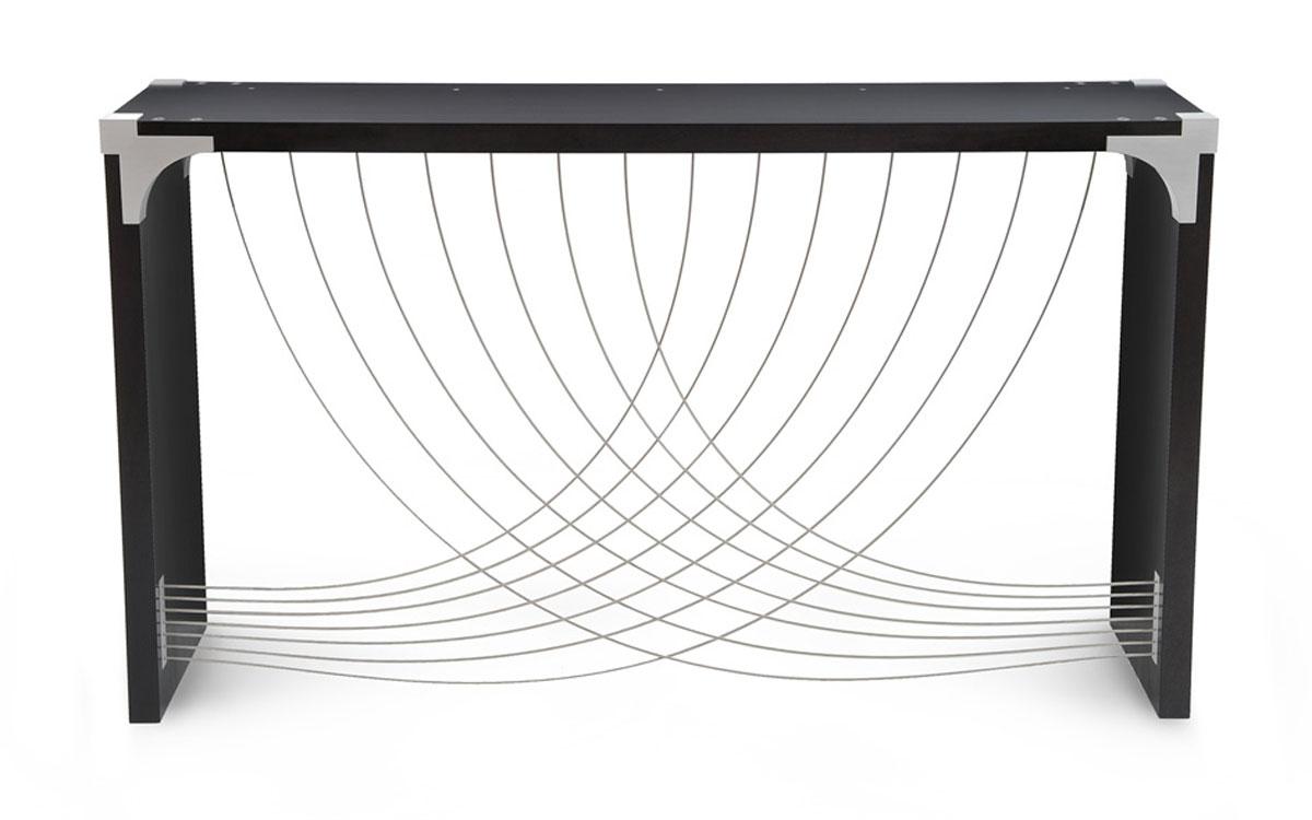 Divergence Jupiter Black Glass Dining Table